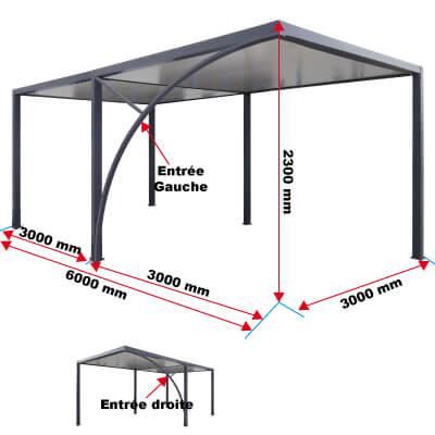 Dimensions du carport avec dégagement priximbattable